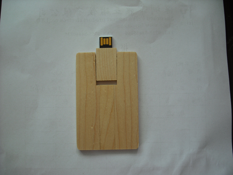 USB Disk Wooden Card