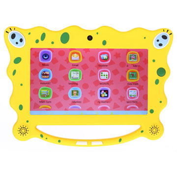 7 inch HD Screen Children OS SpongeBob Tablet for Kids