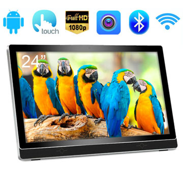 24 Inch RK3188(RK3288) Quad Core FULL HD 1080P LCD Capacitive Touch Screen Android Advertising Kiosk