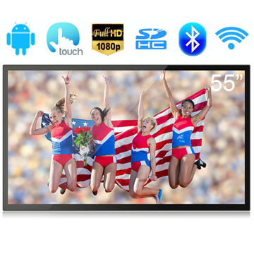 55 Inch RK3288 Quad Core A17 Full HD 1080P Screen Capacitive Touch Screen Android 5.1 Interactive Digital Signage